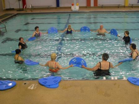 Adult Aquatics Class at the WRC Indoor Pool
