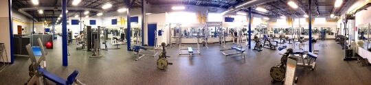Panoramic View of the WRC Fitness Center